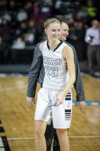 Kolleen Bouchard smiles after helping Houlton to a state championship victory.