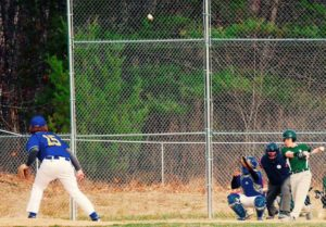 Jarrett Priest smacks a home run during a game this week. Photo from Scott Priest